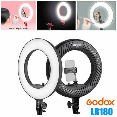 Godox LR180 Dimmable LED Ring Light For Make Up Portrait Phone Camera Shooting