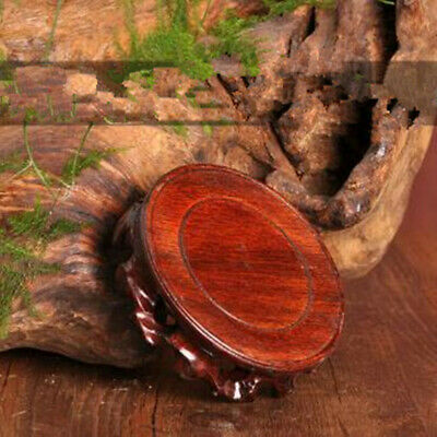 1pcs Chinese Old Hardwood Display Antique Stand Wood Art Collecting Round Base