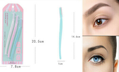 3 Pcs Eyebrow Razor Facial Hair Remover Safety Trimmer Brow Shaper Dermaplaning
