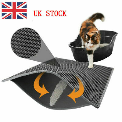 Foldable Double-Layer Cat Litter Mat Waterproof Pad Pet Rug Eva Foam Trapper UK