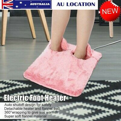 ELECTRIC HEATED FOOT MASSAGER COMFORT WARMER Feet Massaging Slipper Washable AU