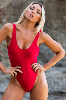 b71c281691 Classic Swimsuit USA BAYWATCH Women Sexy Red Bathing Suit One Piece Bather