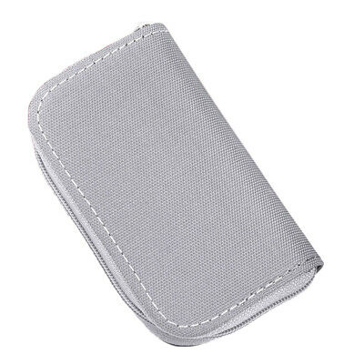 22 Slots for CF//SDHC/MS/DS Zipper Memory Card Storage Wallet Case Bag Holder