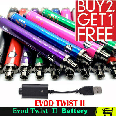 EGO TYPE C Twist Variable Voltage Battery 1300mAh + charger
