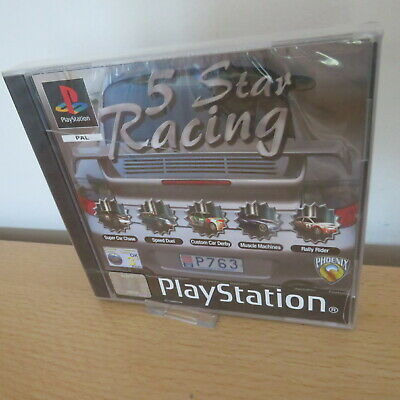 ps1 Sony Playstation 1 ps1 5 Star Racing pal version new sealed