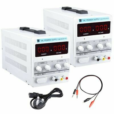 DC 30V 10/5A Variable Dual Adjustable Lab Bench Power Supply Precision LED 220V