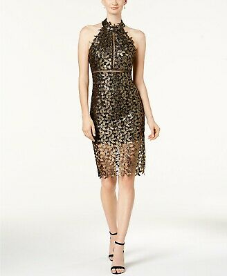 Bardot Mock-Neck Lace Illusion Dress  MSRP $129 Size 10/L # 10A 768 NEW