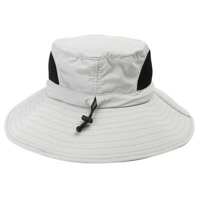 Men's Outdoor Boonie Sun Hat Wide Brim Summer Cap for Fishing Camping Breathable