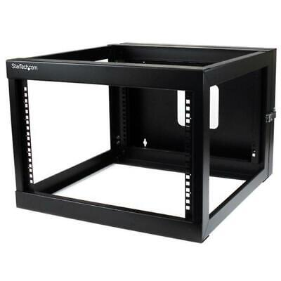 StarTech 6U Hinged Wallmount Open Frame Rack Cabinet - Server Rack