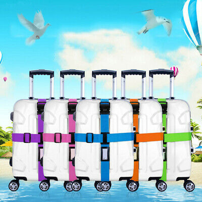 Cross strap Suitcase Password Luggage NylonTravel Baggage Backpack Belt Lock SU