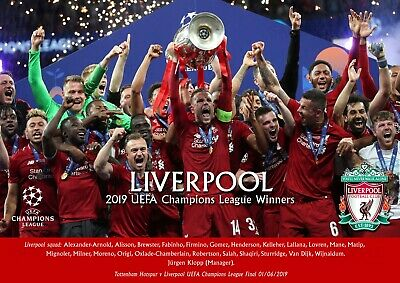 Liverpool champions league poster #2- A3 - 297mm x 420mm NEW