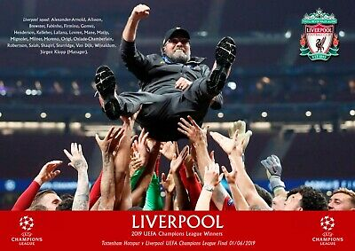 Liverpool champions league poster - KLOPP #7- A3 - 297mm x 420mm NEW