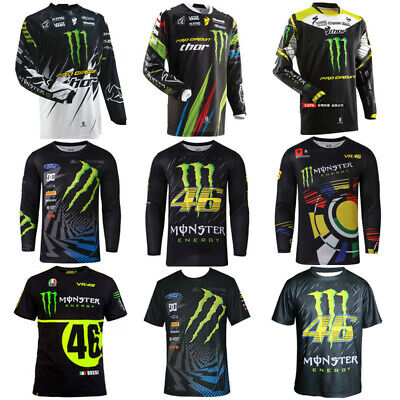 Replic  Moto GP Cycling Jersey Mens T Shirt Long Sleeve Casual Crew Neck