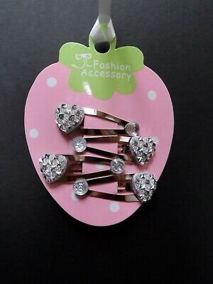 mini hair clips hair slides snap clips sparkle gem hearts baby hair accessory