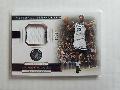 c340f34404a0c TIMBERWOLVES ANDREW WIGGINS Game Used Worn Signed Auto Shoes Rookie ...