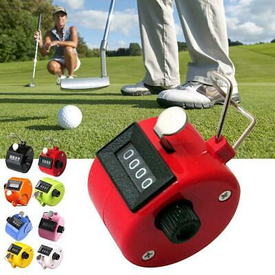Hand Held Tally Counter Golf Manual Number Counting Palm Clicker 4Digit Tasbeeh