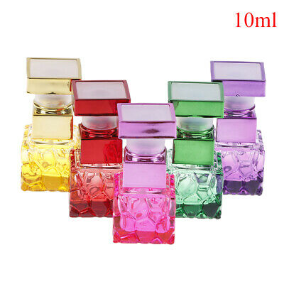 10ml ColorfulGlass PerfumeBottles Spray Refillable Atomizer Scent Empty BottleXM