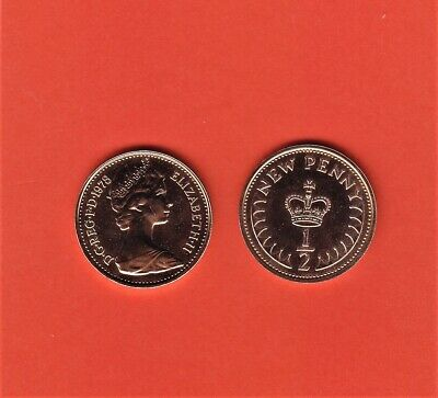 1978 1/2p Half Pence Proof Coin - From Royal Mint Set (Free Post)