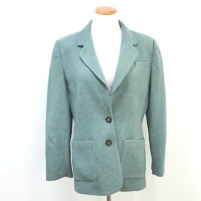 Vtg 90s Lord And Taylor Womens Sz 10 Wool Blazer Padded Shoulders Great Vtg Look