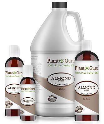 Sweet Almond Oil 100% Pure Organic Carrier For Skin, Face, Hair Growth & Massage