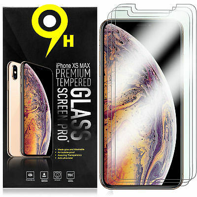 Premium Tempered Glass Screen Protector For iPhone XS MAX XR XS X 8 7 6S Plus