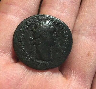 CHOICE! Ancient Roman Coin AE As DOMITIAN 87AD FORTUNA LEFT RIC 544 9.8g