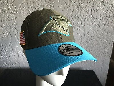 buy popular bf041 728df NFL New Era Salute to Service CAROLINA PANTHERS 39Thirty FlexFit Hat Mens  SM MED
