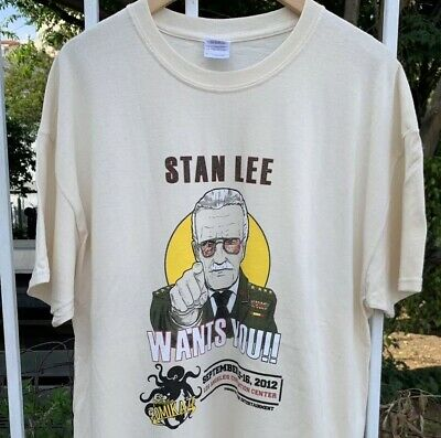 73f42bf0 Stan Lee Wants You Comikaze Comic Book Convention 2012 New T Shirt Sz ( XL