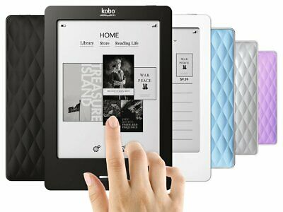 """Kobo Touch eReader 905 2GB, WiFi, 6"""" 4 Colors With Free Clip Light"""