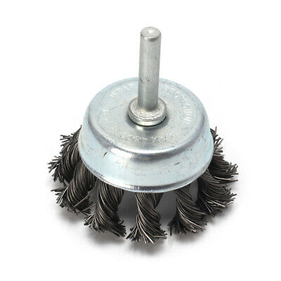 65mm Stainless Steel Knot Wire Wheel Cup Brush 6mm Shank For Surface Cleaning