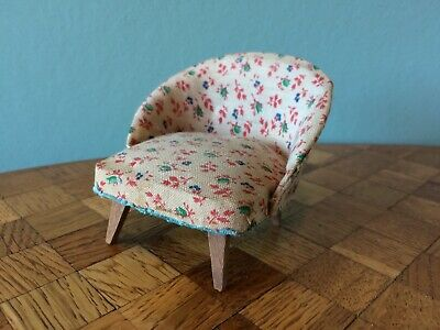 Sessel Paul Hübsch 50er/60er Puppenhaus Puppenstube 1:12 dollhouse armchair