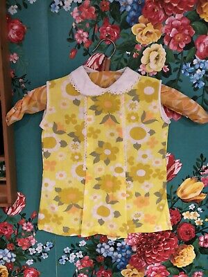 vintage childrens cuckoo brand 1970s flower power Deadstock Top 12 -18 Months
