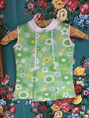 vintage childrens cuckoo brand 1970s flower power Deadstock Top 18 24Months