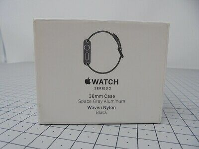 Genuine Apple Watch EMPTY BOX ONLY - Series 2 - 38mm - Space Gray - WNBS2