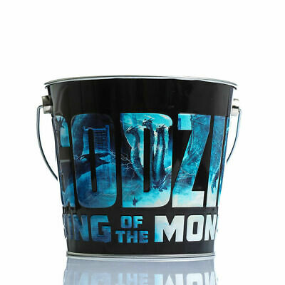 2019 Godzilla King of the Monsters Popcorn Tin Bucket Storage Offical Exclusive