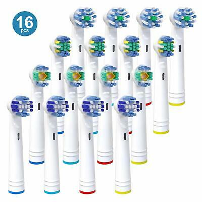 16 Pack Electric Toothbrush Heads Compatible With Oral B Braun Toothbrush Head