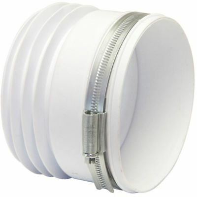 WC Toilet Pan Connector for Back To Wall Toilets with Jubilee Hose Clip Fixing