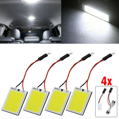 White 24 SMD COB LED T10 4W 12V Car Interior Panel Light Dome Lamp Bulb