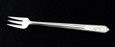 Reed & Barton Silver Plate MAID OF HONOR 1935 Art Deco Cocktail Fork Mono G