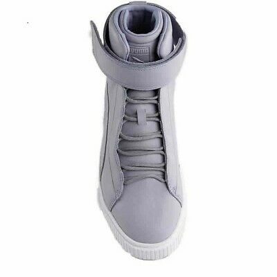2b23a6ce23 Womens Puma Platform Mid Sneakers Grey Size 9 Leather Upper Rubber Soles