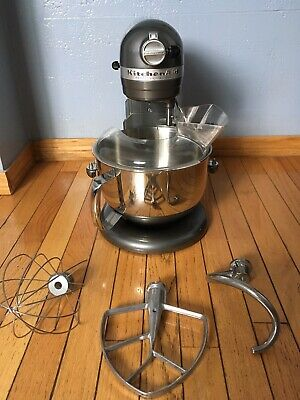 Kitchenaid Gray Professional 600 Mixer 6 Qt With Accessories