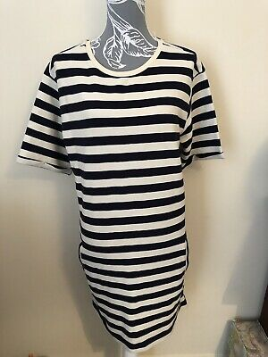 5ac3b0c7d8d Brand New With Tags PRIMARK Size 16 Striped Tshirt Dress Tunic Blue Cream