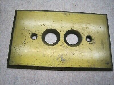 Antique BRASS Push Button Light Switch Plate COVER OLD #2