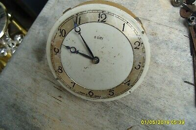 8  Day Movement  Clock Parts  Spares  Repair  Only  87Mm X  25Mm Time Piece