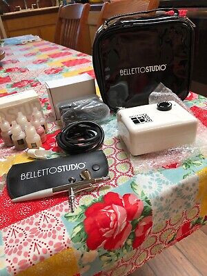 Belletto Studio HD AIR BRUSH MAKEUP SYSTEM + Face and Body Makeup