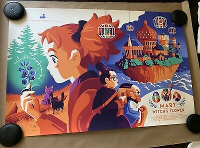 Tom Whalen Mondo Mary And The Witch's Flower Art Poster Print SDCC AP Ed Of 31