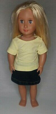 Dolls tee and skirt set, fits 18 inch dolls