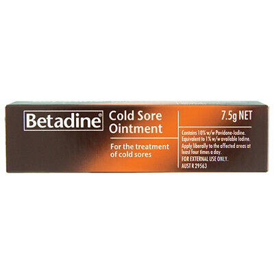 NEW Betadine Cold Sore Ointment Can Help To Check The Infection 7.5g
