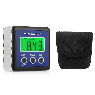 Floureon Digits Bevel Box Gauge LCD Green Backlight Angle Finder Protractor IP54