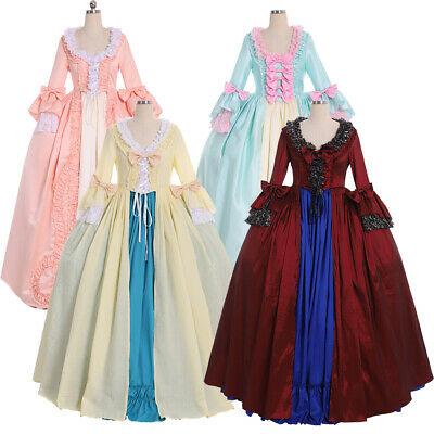 8fe3381cf0dff 18th Century Marie Antoinette Victorian ROCOCO Gown Ball dress cosplay  costume